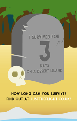 I survived for 3 days on a desert island! How long could you survive?
