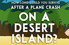 How long could you survive on a desert island after a plane crash?